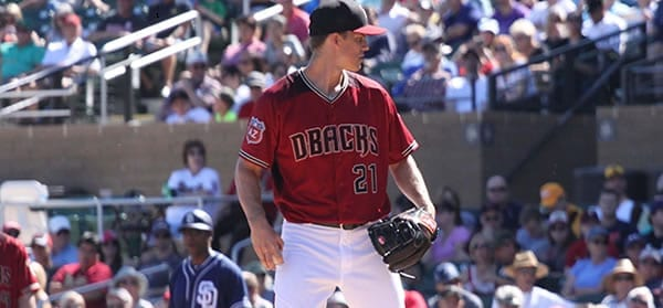 Zack Grienke Arizona starting pitcher versus Milwaukee