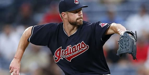 Corey Kluber Indians starter tonight against the Red Sox