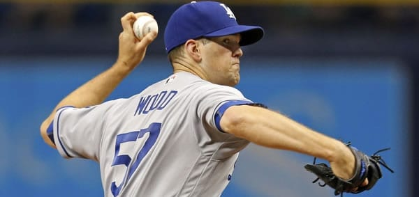 lex Wood Dodgers starting pitcher against the Braves