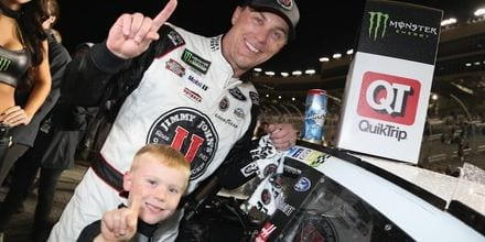 Kevin Harvick and son