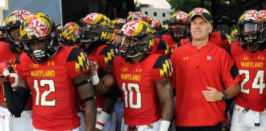 Maryland Football in tunnel