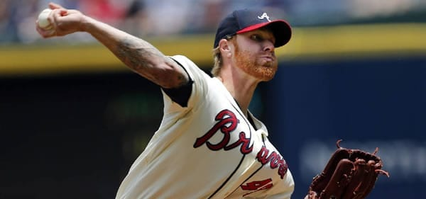 Mike Foltynewicz pitcher versus the Dodgers