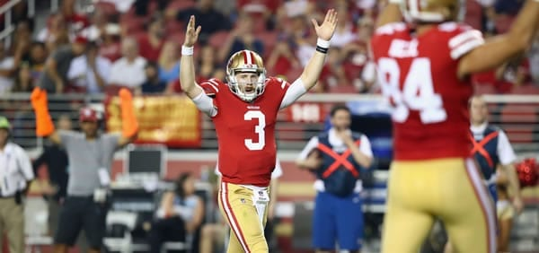 CJ Beathard 49ers QB versus Cardinals in Week 8