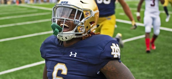 Tony Jones Jr Irish RB