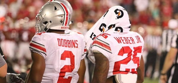 OSU Running Backs Dobbins and Weber Jr.