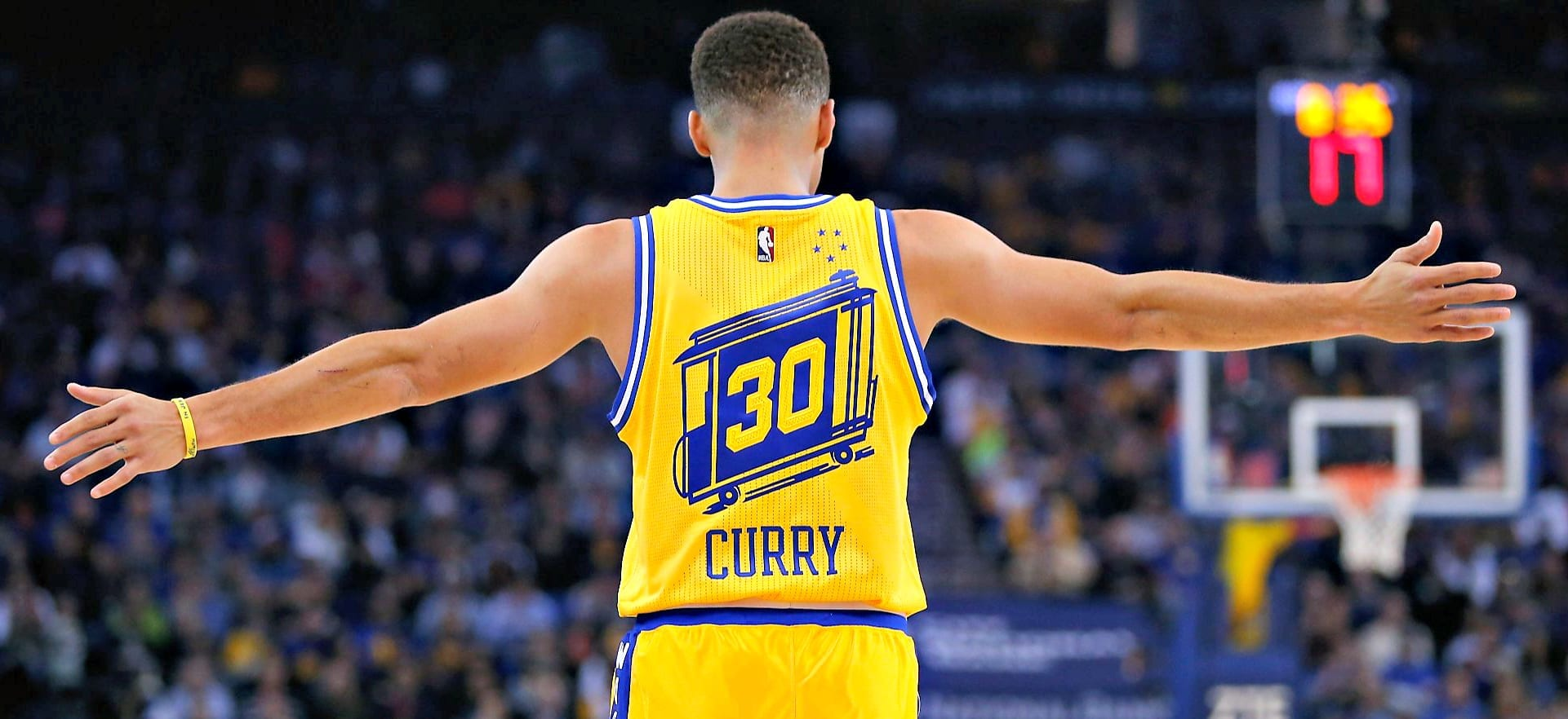Curry's back