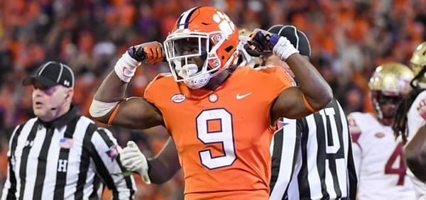 Travis Etienne QB for Clemson in the Cotton Bowl