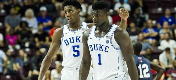 RJ and Zion Williamson Duke