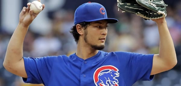 Yu Darvish Cubs Starter tonight versus the Brewers