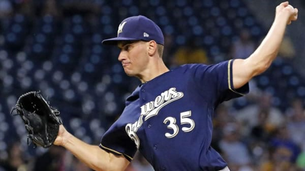 Brent Suter Brewers Starting Pitcher in Game 1